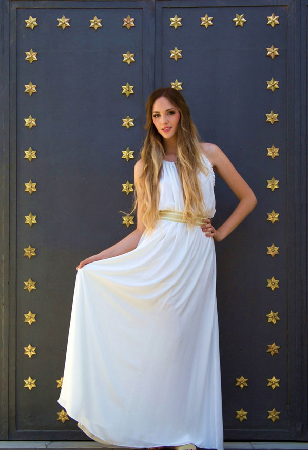 Look para novia, orginal, con estilo griego