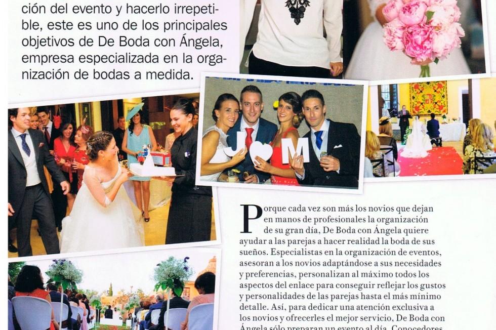 De boda con Ángela en la revista