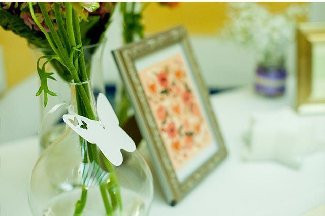 Detalle de la decoración de la boda de S&A