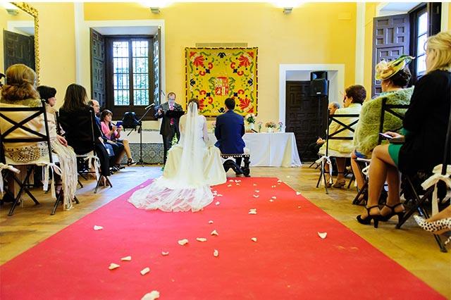 Otro momento durante la ceremonia de la boda de S&A en la Casa Palacio Bucarelli