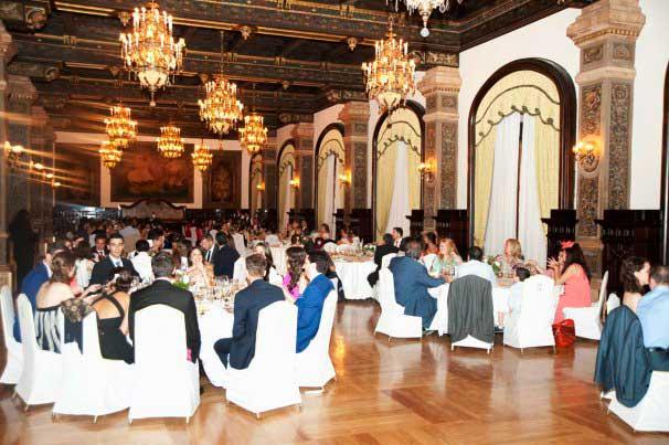 Durante el banquete en el Salón Real del Hotel Alfonso XIII