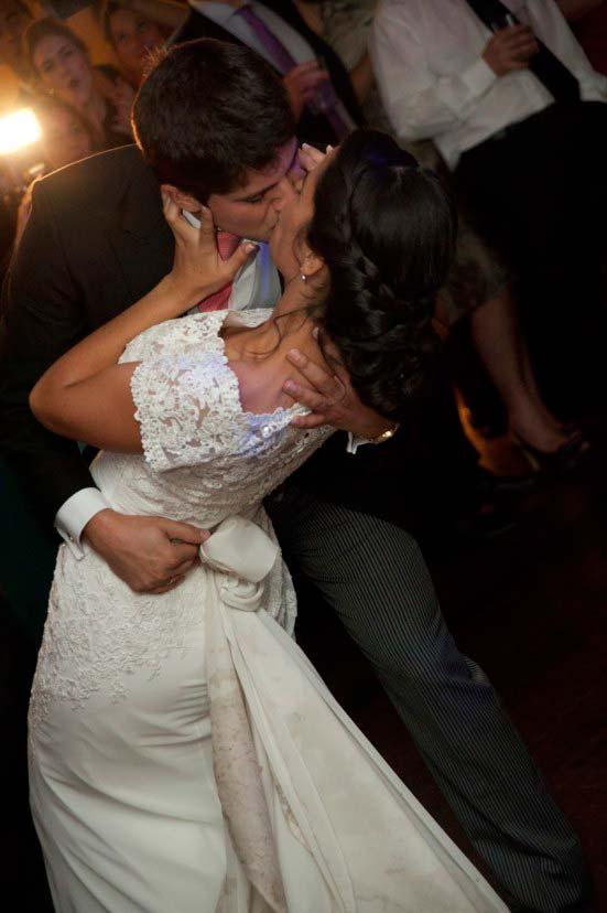 Momento durante el baile de novios en la boda de Carmen y Joaquín
