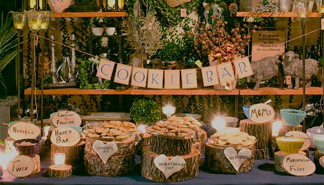 Candy Bar o mesa dulce para una boda en otoño