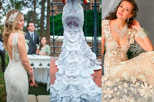 Más vestidos de novia en crochet