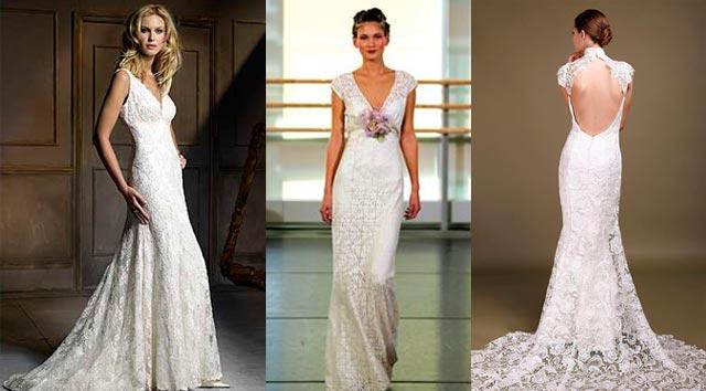 Tres vestidos de crochet para novias