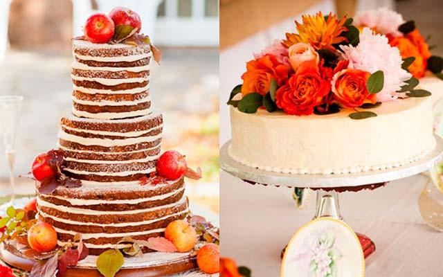 Tartas para bodas en otoño