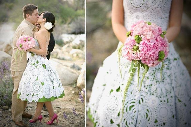 vestidos de novia de crochet, ideas muy originales