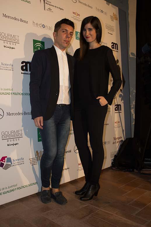 Ángela Caparroz en el desfile del diseñador Antonio Postigo