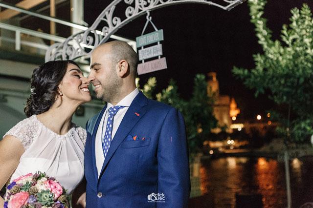 Antonio y Edith posando para el día de su boda