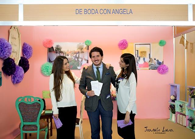 El equipo de De Boda con Ángela en Jerez de la Frontera, durante el Salón de la boda, Bodasur