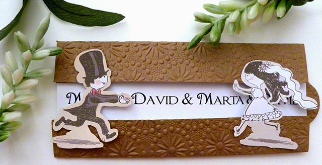 Invitación de boda muy original