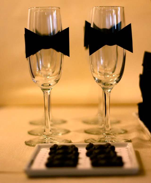 Copas de cava para los invitados a nuestra boda en fin de año
