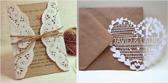 Invitaciones de boda acordes con el estilo de vuestra boda