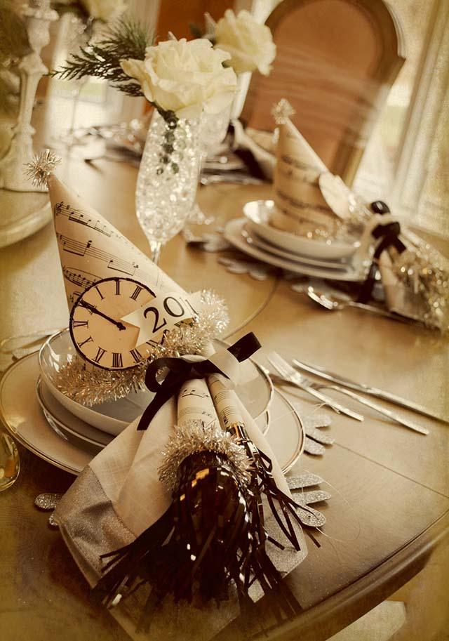 Otra preciosa mesa tematizada para una boda en nochevieja