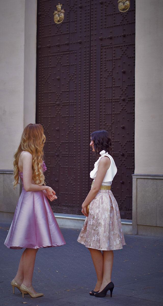 Conjuntos de falda y body para hermanas de la novia