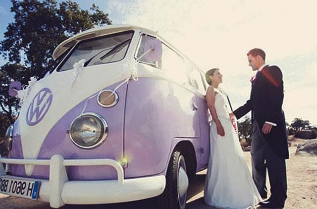 Una furgoneta para la boda de los más nómadas