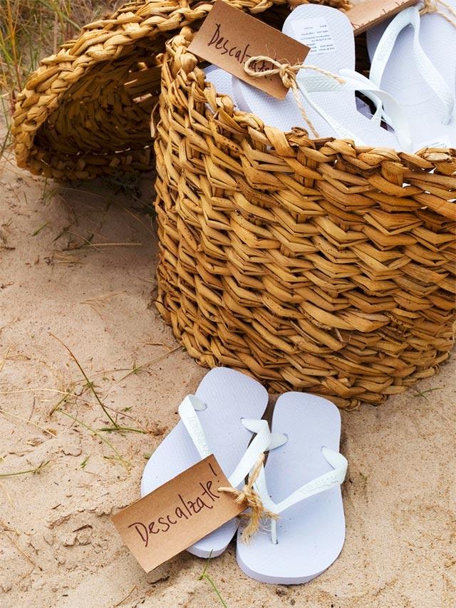Chanclas para vuestra boda en la playa