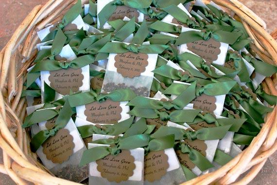 Semillas de flores silvestre para regalo de invitados a una boda