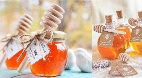 Tarritos de miel para regalo de boda para invitados