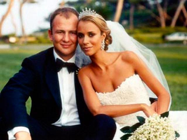Aleksandra Nikolic y Andrey Melnichenko en su más que lujosa y carísima boda