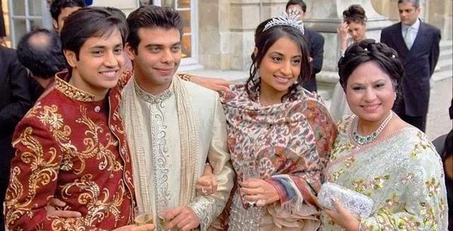 Vanisha Mittal y Amit Bhatia durante su carísima ceremonia de boda
