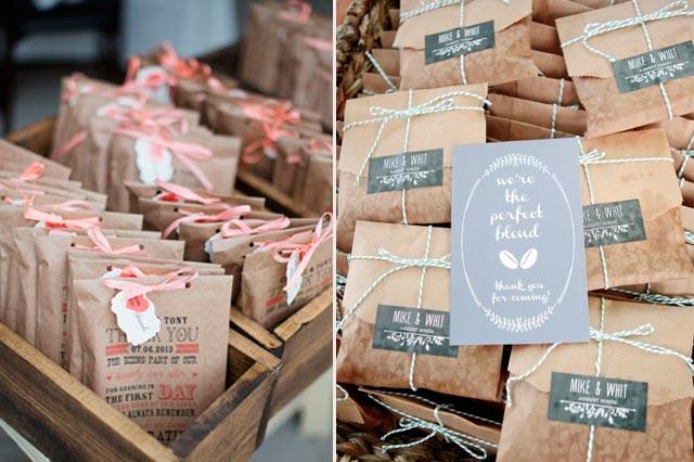 Bolsitas de té como regalo para invitados a una boda