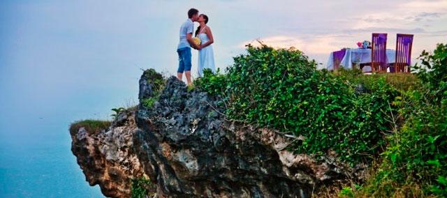 Lugares sorprendentes para el viaje de novios
