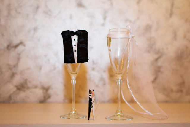 Regalo de boda para los invitados, realizado artesanalmente por los novios