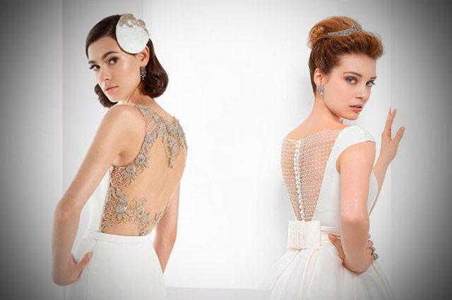 Tendencias 2017 en vestidos de novia con la espalda descubierta