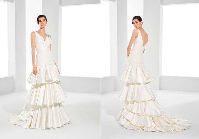 Vestido de novia con inspiración flamenca del diseñador Pepe Botella