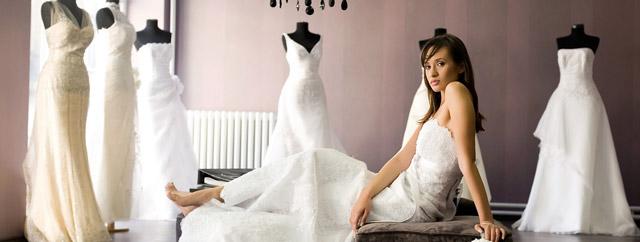Vestidos de novia de diferentes tipos de tela