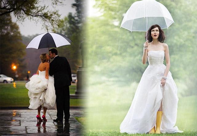 Consejos para una boda durante un día lluvioso