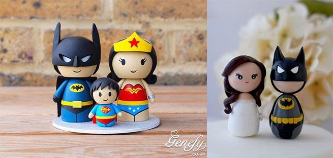 Figuras Batman para tartas de bodas