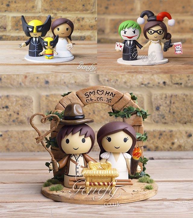 Figuras Películas para tartas de bodas
