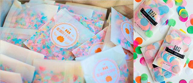 Ideas para preparar confeti y lanzarlos a los novios a la salida de la ceremonia civil o religiosa