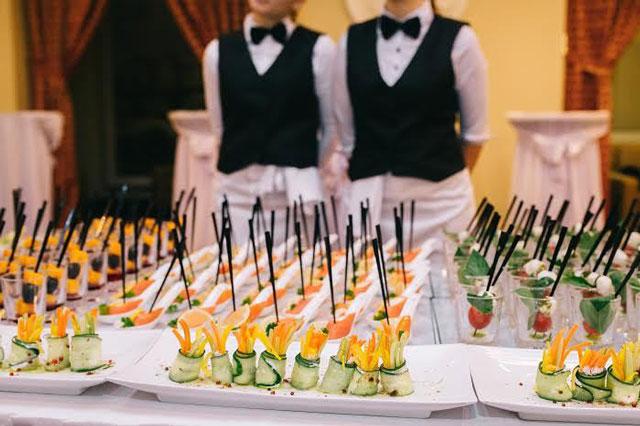 Banquetes de boda tipo cóctel