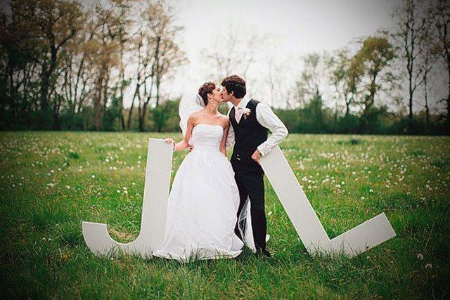4 sitios donde colocar letras para bodas ideas para for Que poner en los banos de una boda