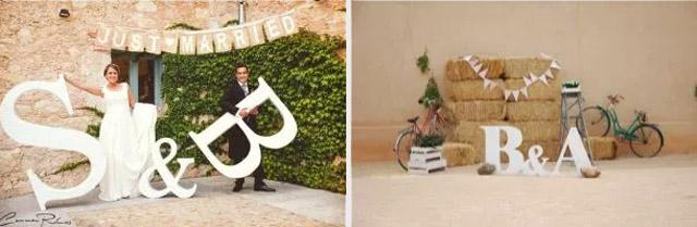 Ideas de letras para photocall de bodas