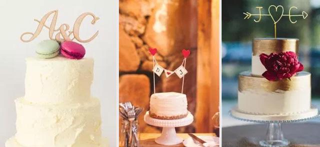 Ideas de letras en tartas de bodas