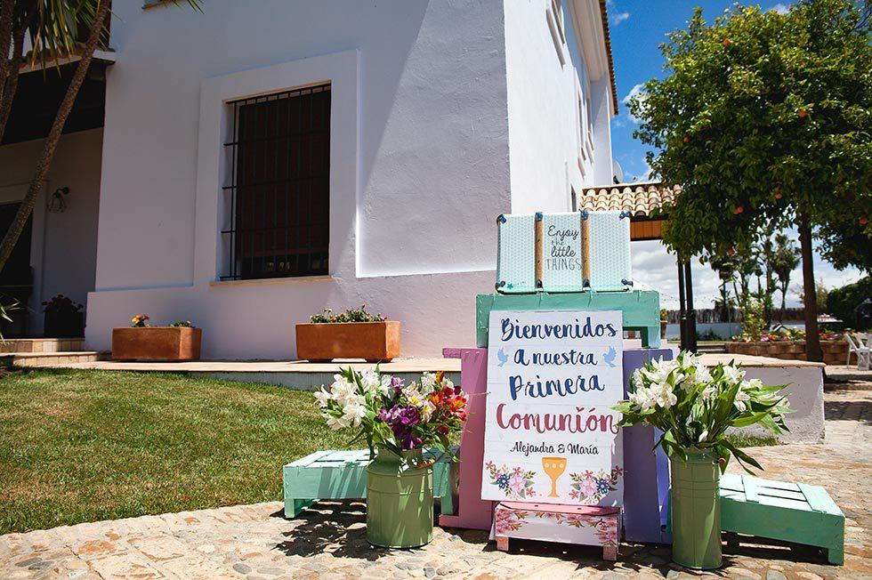 Así organizamos esta preciosa celebración de la 1ª Comunión de Alejandra y María, en Bormujos (Sevilla)