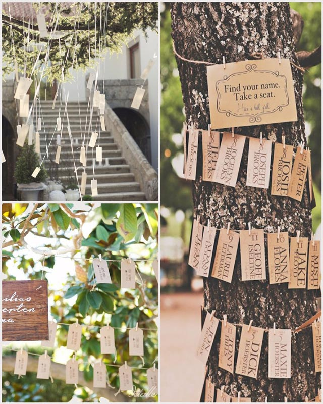 Ideas originales para el Seating Plan de una bodas: Árboles