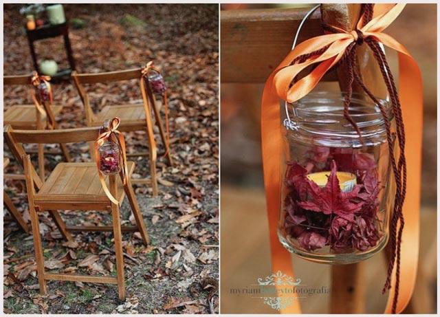 Decoración con flores silvestres para vuestra boda en otoño