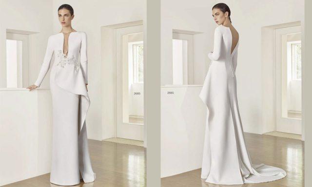 Vestido de novia para bodas en otoño, de Cristina Patricia Avendaño