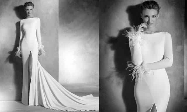 Vestido de novia para bodas en otoño, de Pronovias