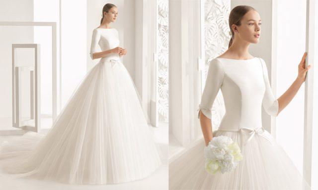 vestido de novia para bodas en otoño, de rosa clará | organizaciÓn