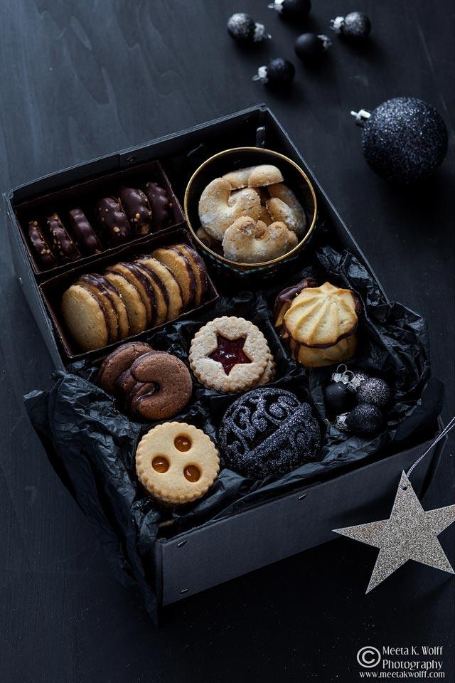 Galletas de Navidad en caja de pastas de lujo