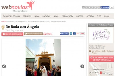 De boda con Ángela en WebNovias
