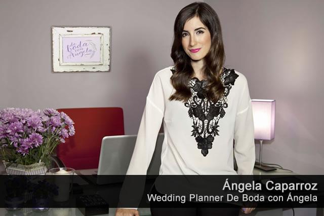 Ángela Caparroz. Gerente y Wedding Planner en De Boda con Ángela