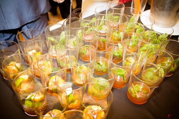 Algunas de la bebidas que se sirvieron durante el coctel