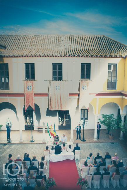 Ceremonia civil de Marta y Joaquín en el Ayuntamniento